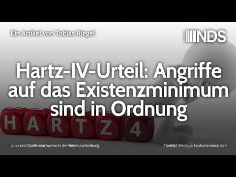 Hartz-IV-Urteil: Angriffe auf das Existenzminimum sind in Ordnung | Tobias Riegel | 07.11.2019