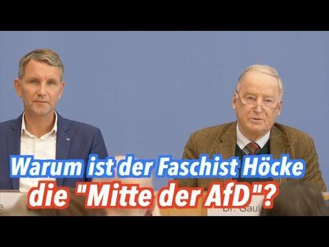 """Warum ist der Faschist Höcke die """"Mitte der AfD""""?"""