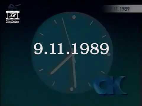 9.11.1989 Mauerfall auf Aktuelle Kamera -Tagesschau - heute-journal vor 28 Jahren