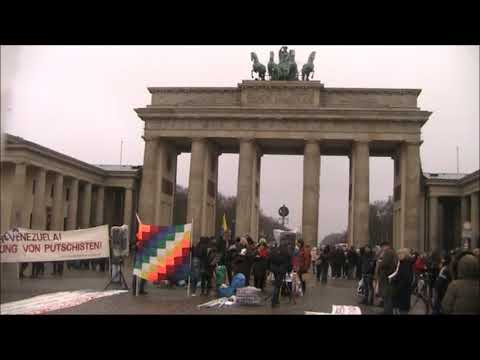 Berlin 25.1.Grußadresse Botschaft Venezuelas. Internationale Solidarität. Hasta la victoria siempre