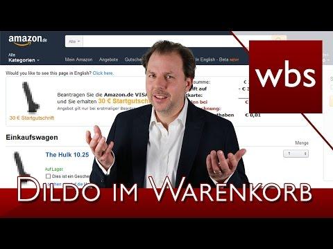Amazon-Kunde findet Dildo in seinem Warenkorb! | Kanzlei WBS