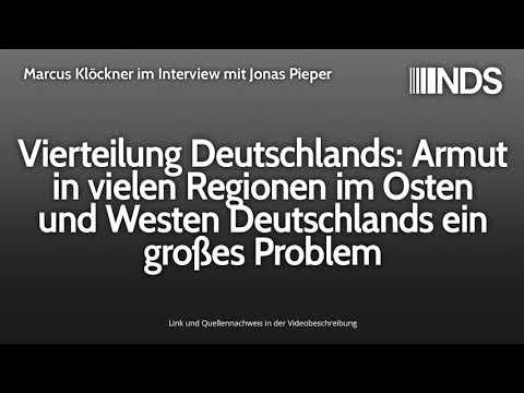 Vierteilung Deutschlands: Armut in vielen Regionen im Osten & Westen Deutschlands ein großes Problem