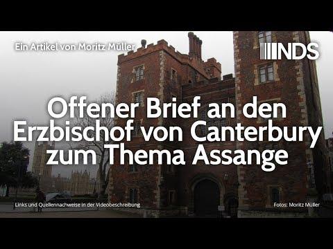 Offener Brief an den Erzbischof von Canterbury zum Thema Assange   Moritz Müller   NDS   05.12.2019