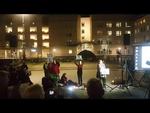 Rede von Heike Hänsel #FreeAssange #Candles4Assange #Berlin 23.10.