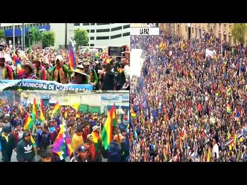 Bolivia   MASIVAS MARCHAS EN LA PAZ CONCENTRACIONES CABILDO DEL PUEBLO