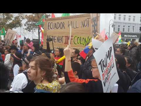 Berlin: Antikoloniale Demo am Hermannplatz - Bloque Latinoamerica