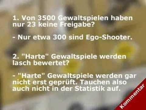 Killerspiele in ARD, ZDF und WDR – 1.1