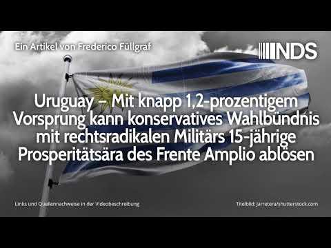 Uruguay: Mit 1,2% Vorsprung löst Wahlbündnis mit rechtsradikalen Militärs Frente Amplio ab
