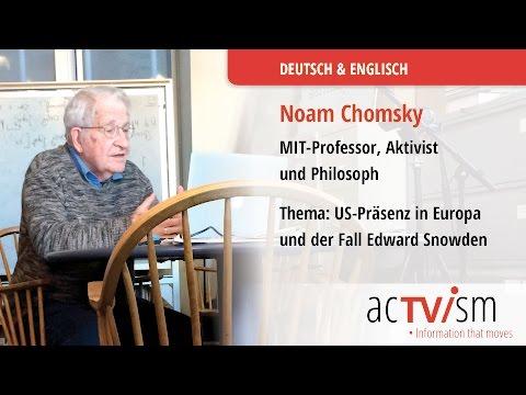 Noam Chomsky: US-Präsenz in Europa & der Fall Edward Snowden