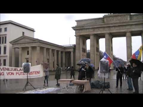 Saludos de #Berlin - Frente Unido America Latina - Nancy Larenas, PC Chile - Febrero 2