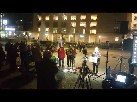 Rede von Reiner Braun für Julian Assange #Candles4Assange #FreeAssange #Berlin 23.10.