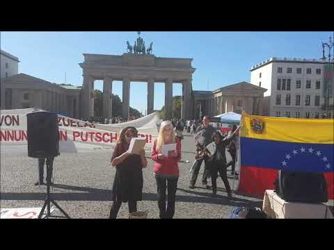 Septembre 21 - Saludos de #Berlin por Venezuela Nancy Larenas, PC Chile #ManosfueraVenezuela