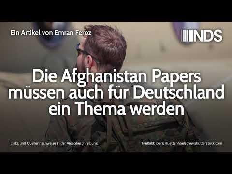 Die Afghanistan Papers müssen auch für Deutschland ein Thema werden | Emran Feroz | NDS | 20.12.2019
