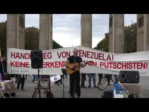 US-Liedermacher David Rovics: Hands off Venezuela / Berlin Brandenburger Tor 19.10,19