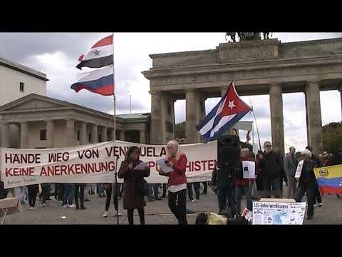 Berlin 5.10.19. Grüße nach Venezuela - Blockade gegen Venezuela stoppen! #HaendewegvonVenezuela