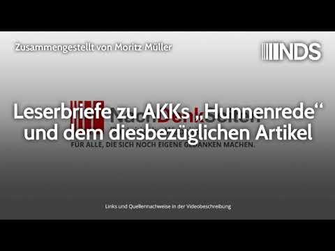 """Leserbriefe zu AKKs """"Hunnenrede"""" und dem diesbezüglichen Artikel   18.11.2019"""