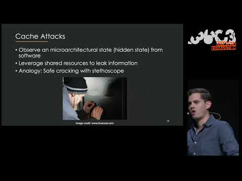 36C3 - Practical Cache Attacks from the Network and Bad Cat Puns