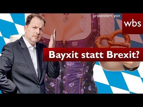 Bayxit statt Brexit? Darf Bayern aus BRD austreten? | Nutzerfragen Rechtsanwalt Christian Solmecke