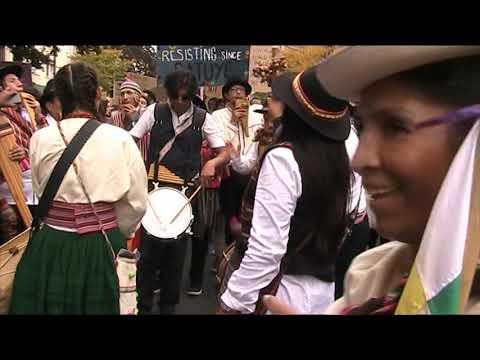 Antikoloniale Demo Berlin 12.10.2019 - Solidaridad Ecuador / Pachamama