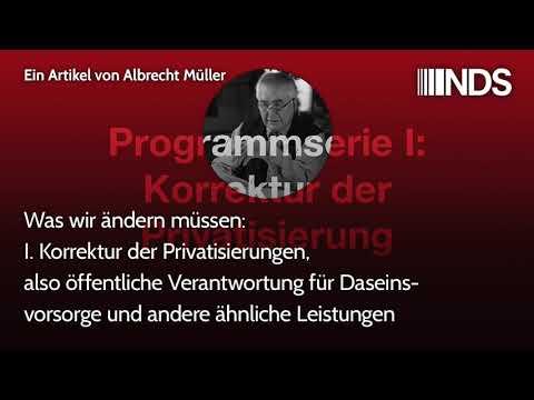 Was wir ändern müssen: I. Korrektur der Privatisierungen, öffentl. Verantwortung für Daseinsvorsorge