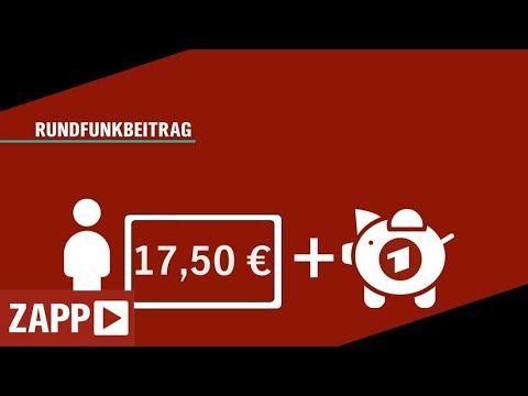 Rundfunkbeitrag: Einschnitte trotz Erhöhung | ZAPP | NDR