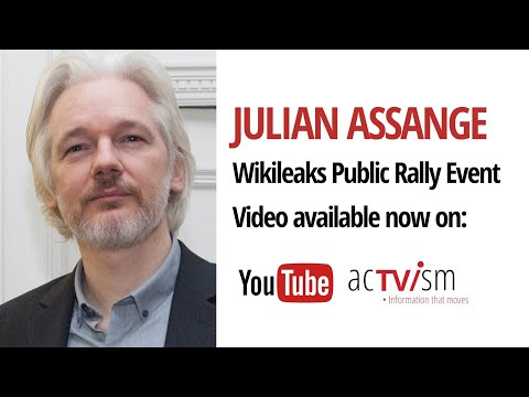 Julian Assange - Public Rally Event with Wikileaks, Nils Melzer, Tariq Ali and more