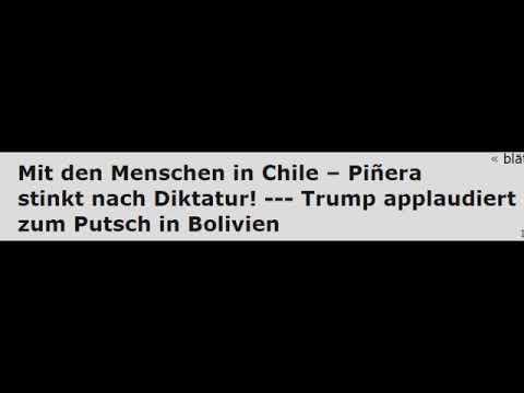 Chile: Piñera stinkt nach Diktatur! - – Trump applaudiert zum Putsch in Bolivien
