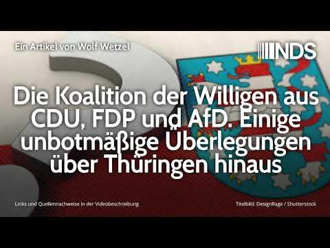Die Koalition der Willigen aus CDU, FDP und AfD. Unbotmäßige Überlegungen über Thüringen hinaus