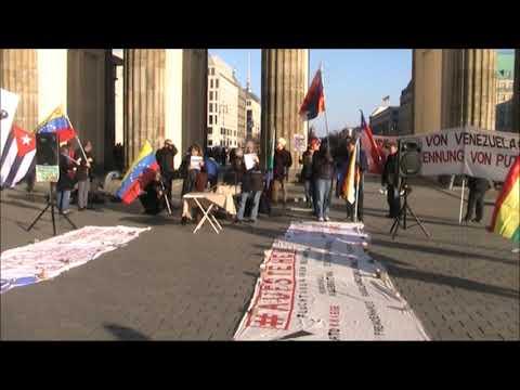 Saludos de #Berlin - Frente Unido America Latina - Nancy Larenas, PC Chile - Febrero 8