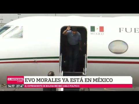 EVO MORALES LLEGÓ A MÉXICO COMO ASILADO POLÍTICO - El Noti de la Gente
