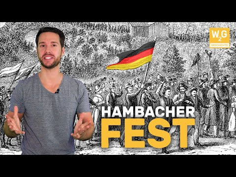 """Das Hambacher Fest - """"Deutschlands Wiedergeburt""""   Geschichte"""