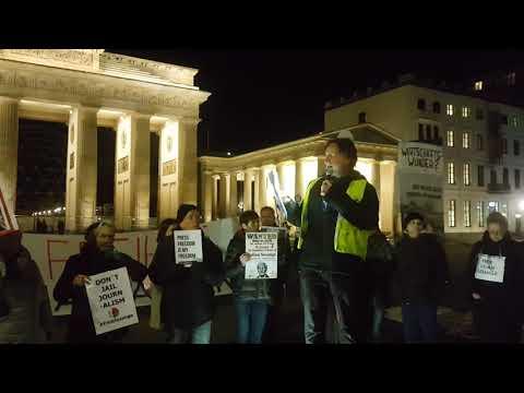 #FreeAssange / Berlin 30.10. #Candles4Assange - Ex-Botschafter & Aktivist C. Murray über das Gericht