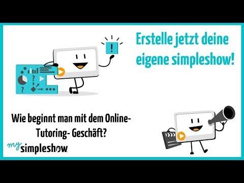 Erste Schritte für ein eigenes Online-Tutoring-Geschäft - mysimpleshow