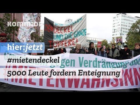 #Mietendeckeldemo   5000 Leute fordern Enteignung