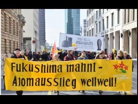 Kazaguruma-Demo Berlin - 5. Jahrestag Atomkatastrophe Fukushima / 30. Jahrestag Tschernobyl