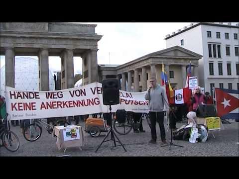 Grayzone Redakteur Max Blumenthal verhaftet #HaendewegvonVenezuela Berlin 2.11.2019
