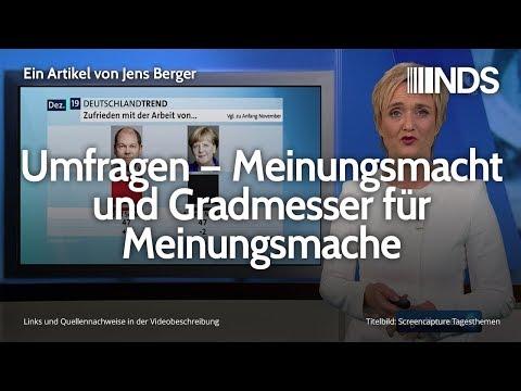 Umfragen – Meinungsmacht und Gradmesser für Meinungsmache | Jens Berger | NDS | 06.12.2019