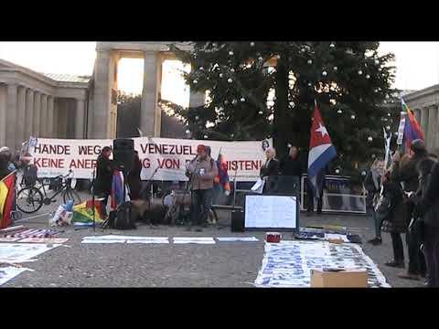 Frank, Cuba Si - NEIN zum Putsch in #Bolivien! #EvoEsPueblo #Berlin 30.11.2019