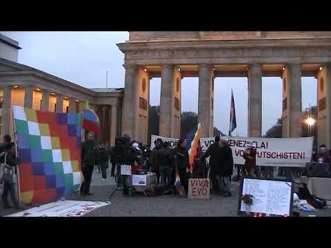 NO al Golpe en Bolivia! Walter Trujillo Moreno y Pablo Miró #EvoEsPueblo Berlin 23.11.19