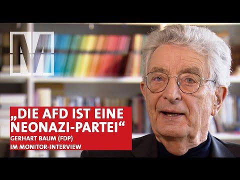 """""""Die AfD ist eine Neonazi-Partei"""" – MONITOR-Interview mit Gerhart Baum (FDP)"""