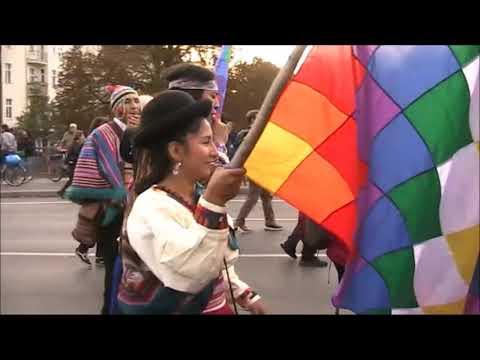 Antikoloniale Demo Berlin 12.10.2019 - Frente LatinoAmericano Unido