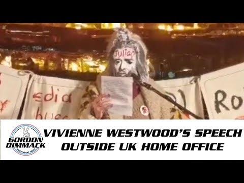 Vivienne Westwood's speech outside Home Office