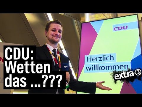 Schlegl in Aktion: CDU-Parteitag und die AKK-Saalwette | extra 3 | NDR