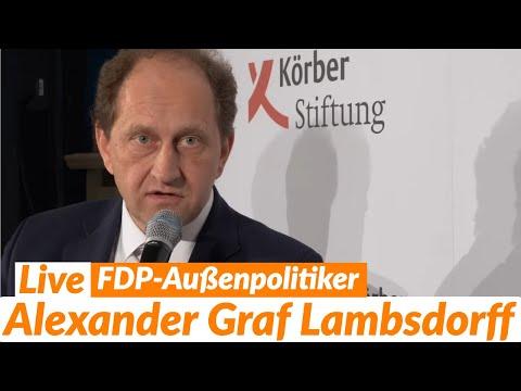 LIVE: Alexander Graf Lambsdorff (FDP) - J&N Spezial @ Körber-Stiftung
