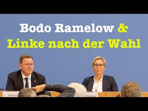 Bodo Ramelow & die Vorsitzenden der Linken nach der Wahl in Thüringen   BPK