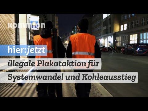 Ministerium für Systemwandel informiert - eine illegale Plakataktion von Ende Gelände