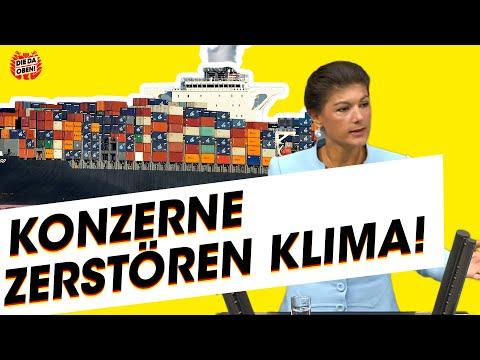 Sahra Wagenknecht (LINKE): Großkonzerne sind Klimakiller!