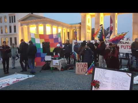 #EvoEsPueblo Solidaridad Internacional Latinoamerica! #Berlin 23.11.2019