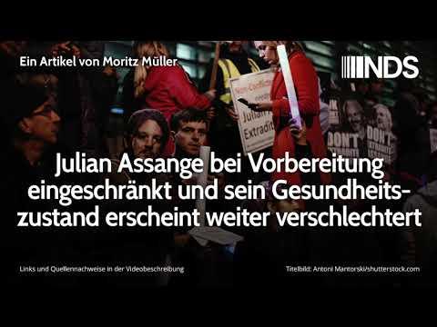 Julian Assange bei Vorbereitung eingeschränkt und Gesundheitszustand erscheint weiter verschlechtert