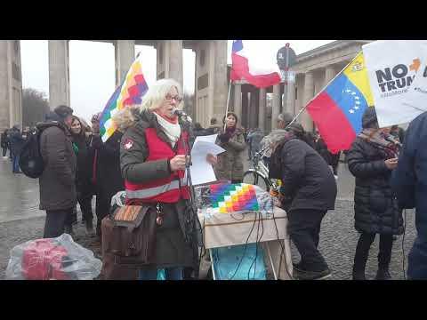 Berlin - Globaler Protest - Solidaridad International con Chile - 25.1.2020